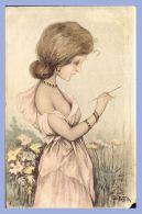 CPA - Illustration De Charme (B. Patella) - Jeune Femme Dessinant - Women