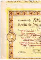 Ancienne Action - Société De Nouveautés Benzion - S.A. Egyptienne - Titre De 1951 - N° 06612 - Afrika