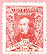 "AUS SC #OB104-5 U 1930 Official / Capt.Charles Sturt Small ""OS"" WMK 203 CV $17.00 - Perfins"