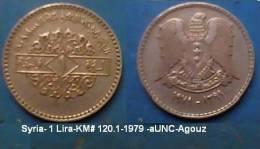 Syria - 1 Lira - KM 120.1-1979 - Agouz Was12 - Syrie