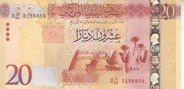 LIBYA 20 DINARS 2015 2016 P-83 AU/UNC */* - Libye