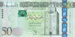 LIBYA 50 DINARS 2013 2015 P-80 UNC */* - Libya