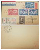O) 1933 PARAGUAY, GRAF ZEPPELIN OVER BRAZILIAN TERRAIN SCOTT AP19 4.50p BLUE -AP19 9p ROSE - IGNACIO ITURBE SC A51 3 P. - Paraguay