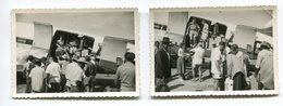 Deux Photographies Privées DC3 Dakota Afrique Noire - Aviation