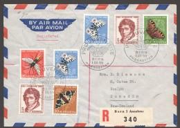 1955  Lettre Recommandée Pour Nouvelle Zélande  Pro Juventute 1955 Série Complète FDC - Pro Juventute