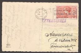 1937 Tête De Garçon Sur Carte Postale Pour L'Allemagne - Réadressée - Briefe U. Dokumente
