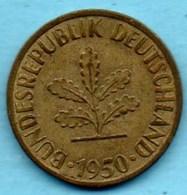 (r65)  GERMANY / ALLEMAGNE RFA  10 Pfennig 1950 F - [ 7] 1949-… : FRG - Fed. Rep. Germany