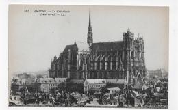 AMIENS - N° 161 -  LA CATHEDRALE COTE NORD - CPA VOYAGEE - Amiens