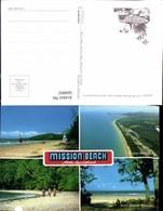 569802,Views Of The Mission Beach Area North Queensland Dunk Island Strandleben Segel - Ansichtskarten