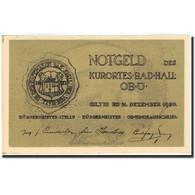 Billet, Autriche, Bad Hall, 75 Heller, Monument, 1920, 1920-12-31, SUP - Autriche