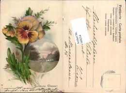 569214,Lithographie Ostern Vergissmeinnicht - Ostern