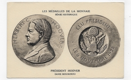 LES MEDAILLES DE LA MONNAIE - PRESIDENT HOOVER - ANIE MOUROUX - CPA NON VOYAGEE - 75 - Coins (pictures)
