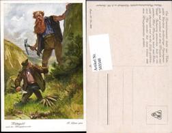 569348,Künstler AK F. Elßner Brüder Grimm Märchen Rübezahl Riese - Märchen, Sagen & Legenden