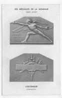 LES MEDAILLES DE LA MONNAIE - SERIE SPORT - L' ESCRIMEUR - CLEMENCIN - CPA NON VOYAGEE - 75 - Coins (pictures)