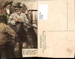 570282,Künstler Steinzeichnung AK R. Mahn Jagd Jäger Gewehr Trachten - Jagd