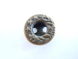 Jeans Knoop Bouton Lauwerkrans 3 Sterren Metal Bronskleur Couleur Bronze 1,4 Cm - Boutons