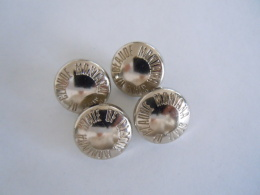 """4 Knopen Buttons Bouton """"State Of Claude Montana"""" - Boutons"""