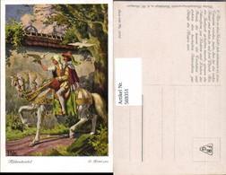 569351,Künstler AK O. Kubel Brüder Grimm Märchen Aschenbrödel Pferd Brieftauben - Märchen, Sagen & Legenden