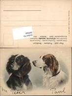 569364,tolle Künstler AK C. Reichert Hunde Hund Collie - Hunde