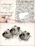 569370,Künstler AK Josef Gaber Hunde Hund Boxer - Hunde