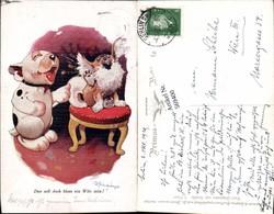 569400,Künstler AK Studdy Scherz Humor Hunde Bonzo Pub Primus 2542 - Humor