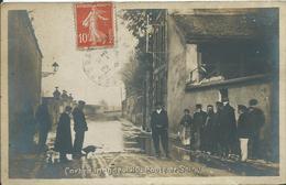 CORBEIL - CARTE PHOTO - Inondation De 1910 - Route De Soisy - Corbeil Essonnes