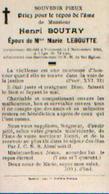 Souvenir Mortuaire BOUTAY Henri (1838-1916) Mort à VECMONT - Santini