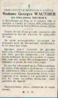 Souvenir Mortuaire BRICHAUX Alive (1895-1930) – ép. WAUTHIER, G. Née à MARCHIENNE AU PONT Morte à IXELLES - Santini