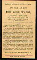 Souvenir Mortuaire BYTEBIER Marie (1873-1931) Echtg. BEYAERT, J. Geboren Te Ecke Overleden Te NAZARETH - Santini
