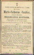 Souvenir Mortuaire CAMBIER Marie (1832-1916) Vve MONVOISIN, Ch. Née Et Morte à OGY - Santini