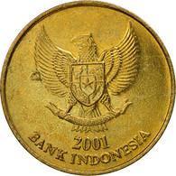 Monnaie, Indonésie, 500 Rupiah, 2001, TTB+, Aluminum-Bronze, KM:59 - Indonésie