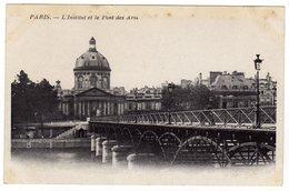 Cpa PARIS L ' Institut Et Le Pont Des Arts - El Sena Y Sus Bordes