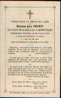 Souvenir Mortuaire De CAMPIGNEULLES Valérie (1860-1904) ép. DULMET, J. Morte à GIMEL-SAINT-BASILE (Corrèze – France) - Santini