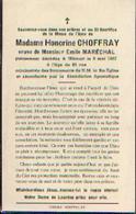 Souvenir Mortuaire CHOFFRAY Honorine (1888-1957) Vve MARECHAL, E. Morte à WICOURT - Santini