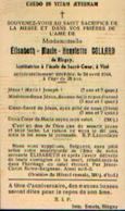 Souvenir Mortuaire COLLARD Elisabeth (1916-1944) De BLEGNY Institutrice à VISE (école Du Sacré-Cœur) - Santini
