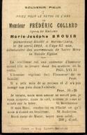 Souvenir Mortuaire COLLARD Frédéric (1836-1921) Mort à BIRON - CINEY - Santini