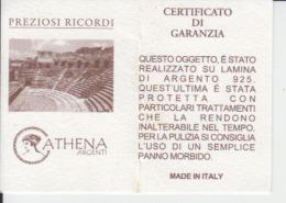 Italia - Ticket / Voucher - Certificato Di Garanzia - Guarantee Certificate - Silver Certificate - Biglietti D'ingresso
