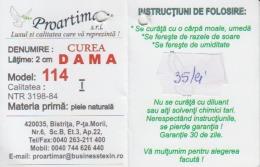Fashion - Romania - Leather Industry - Label/etiquette - Pubblicitari