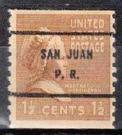 USA Precancel Vorausentwertung Preo, Bureau Territories, PR San Juan 840-61 - Vorausentwertungen