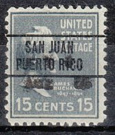 USA Precancel Vorausentwertung Preo, Locals Territories, PR San Juan 263 - Vorausentwertungen