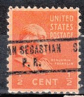 USA Precancel Vorausentwertung Preo, Locals Territories, PR San Sebastian 734 - Vorausentwertungen
