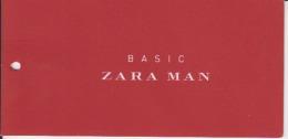 Fashion - Basic Zara Man - Label Etiquette - Pubblicitari