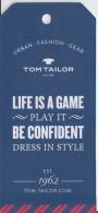 Fashion -  Tom Tailor - Label Etiquette - Pubblicitari