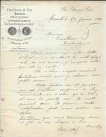Marseilles 1892 Pub Ets Fritsch Fabricants Huiles De Graines - Francia