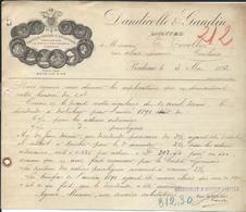 Bordeaux 1892 - Dandicolle & Gaudin Limted -  Titres Actions ... - Francia