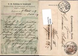 568590,Reklame AK C.A. Czichna Innsbruck Druckerei Ansichtskarten Verlag Unterschrift - Werbepostkarten