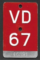Velonummer Waadt VD 67 - Plaques D'immatriculation