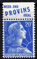 1955/59 MARIANNE DE MULLER N° 1011Bd ( Type II/bande Weekend) NEUF  COTE > 30 € - Unused Stamps