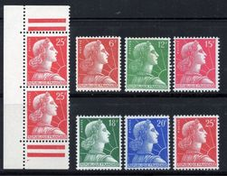 1955/59 MARIANNE DE MULLER SERIE N° 1009A/1011C + 1011Ca NEUFS  COTE > 18 € - Unused Stamps