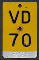 Velonummer Mofanummer Waadt VD 70 - Plaques D'immatriculation